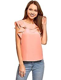 Tops Volantes Rojo Blusas Amazon Camisas Camisetas Y es ATwqq10