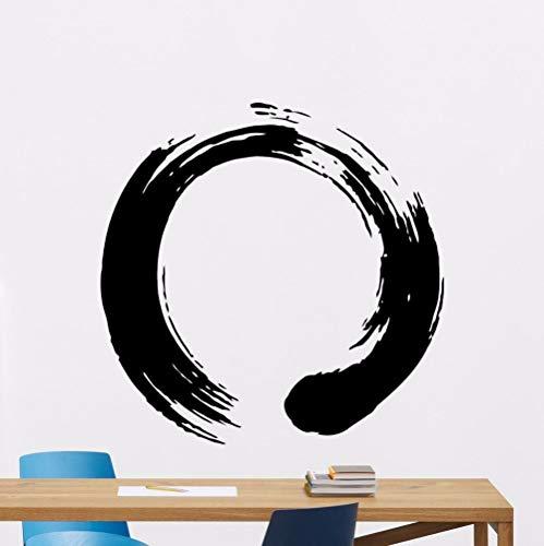 wukongsun Zen Runde Wandtattoo Buddhist Yoga Vinyl Aufkleber Removable Yoga Studio Dekoration Abnehmbare 75 cm X 75 cm