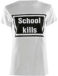Baleza Women Ladies Celebrity Short Sleeve School Kill Print Top T Shirt Sz 8-14