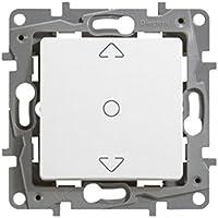 Legrand, 396508 Niloé - Interruptor de persiana, interruptor doble de persianas y toldos, intensidad máxima de trabajo es de 2300W y 10A a 230V, color blanco
