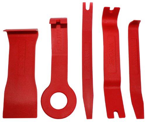 Zierleistenkeil Set 6 teilig Lösehebel Satz Montagekeile Plastikkeil Werkzeug