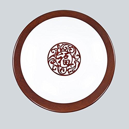 yxhflo RoundLedBedroom cinesi vivono le luci della sala di trattamento aderente la scala studio ristorante con terrazza corridoio al ingresso lampada cinese di quercia di luce a soffitto,benedizioni diametro55cm