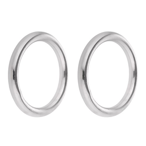 Gazechimp 1 Paar Rundring aus hochwertigem Edelstahl O Ring Bootsport Hardware Hängematte Befestigung Ringe - 6 x 35mm