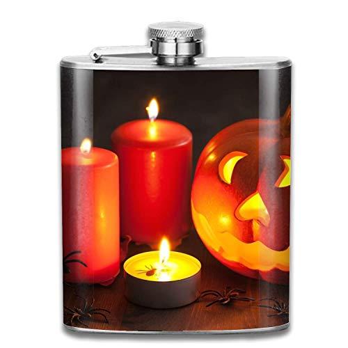 erne Kerze tragbare 304 Edelstahl Flachmann auslaufsicher Schnaps Tasche Flagon Flasche Alkohol ()