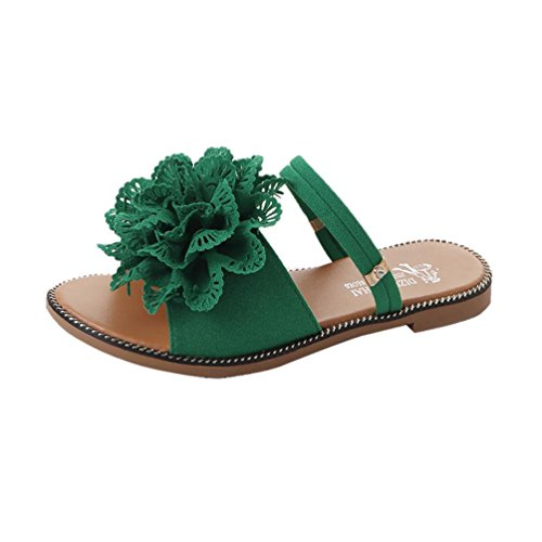 Btruely Sandalen Damen Sommer Slipper Vintage Strandschuhe Blum Abendschuhe Casual Sandalen Frauen Flache Flip-Flops Elegant Schuhe B?hmen Sommerschuhe Outdoor Schuhe Eben Sandalen