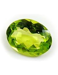 Caratyogi Naturel Péridot ovale Pierre précieuse 3carat Courroie pour la confection de bijoux de qualité AAA