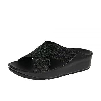 67670d76d18cc Fitflop Women s Crystall Slide Open Toe Sandals ┃ Cheapest Bluray ...