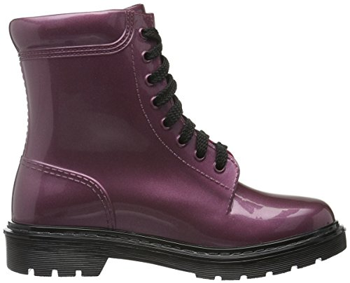 Armani Jeans 9251186A520 Stivali classici imbottiti a mezza gamba, Donna Rosso (BORDEAUX 00176)