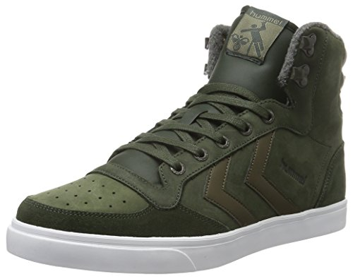 Hummel Stadil Winter, Sneakers Hautes Mixte Adulte Vert (Rosin)