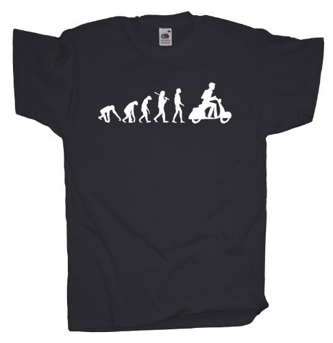 Ma2ca - Evolution - Motorroller T-Shirt-charcoal-m