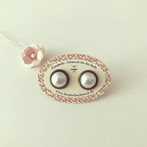 Perlen Ohrringe/vintage / ethno/hippie / must have/statement / florabella schmuck/colourful / Cabochon/Liebe / Love/Perlmutt