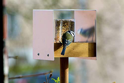 Luxus-Vogelhaus 46861e Eichenholz Vogelfutterhaus mit Ständer - 2