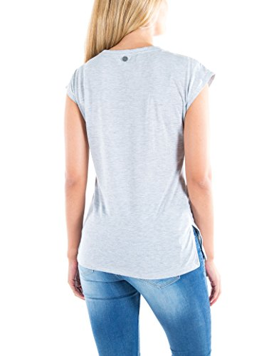 Timezone Damen T-Shirts Handscribble Top Grau (Grey 2012)
