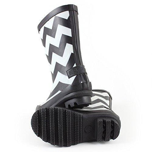 EnFant mixte bottes de pluie, noir/écru, 815065 noir/écru