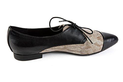 Gerry Weber Original Samples GW1-034, Chaussures de Ville à Lacets Pour Femme Noir Noir 37 EU Noir