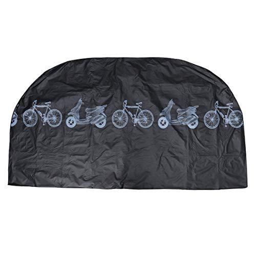 Preisvergleich Produktbild LIOOBO Motorrad Bike Abdeckung universal schutzhülle im freien Wasserdichte Regen Wind staubdicht für Mountain Road elektrische Fahrrad Dreirad (schwarz)