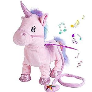 Aideal Peluche de unicornio eléctrico,