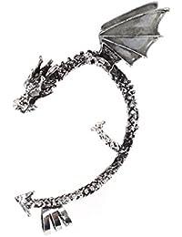 Classic Dragon Earrings Non-Pierced Clip On Earrings Fake Ear Cartilage Cuff Ear Ring Ear Wrap Earring Gothic...