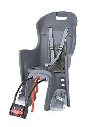 Polisport Unisex - Kinder Fahrrad-Kindersitz, grau, one size
