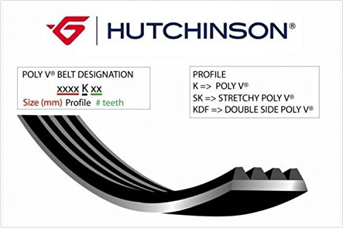 HUTCHINSON 613 K 4 Courroie Poly-V