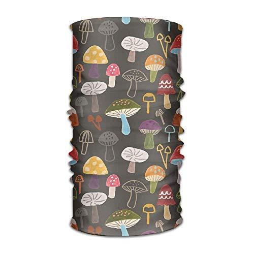 Rghkjlp Kopfbedeckung Bunte Pilz Outdoor Schal Stirnbänder Bandana Maske Halsmanschette Kopf Wrap Maske Schweißband Fashion14 -
