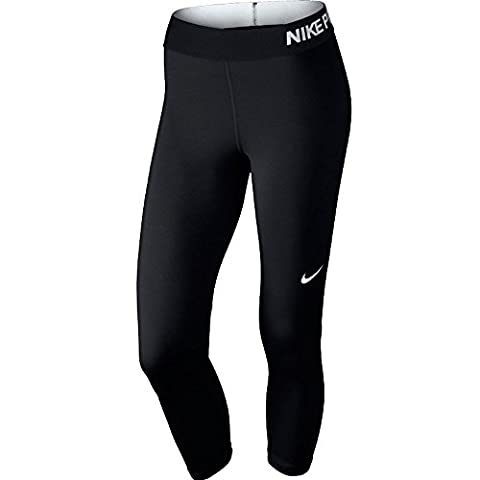 Nike Damen D-caprihose Pro Cool, schwarz/weiß, S, 725468