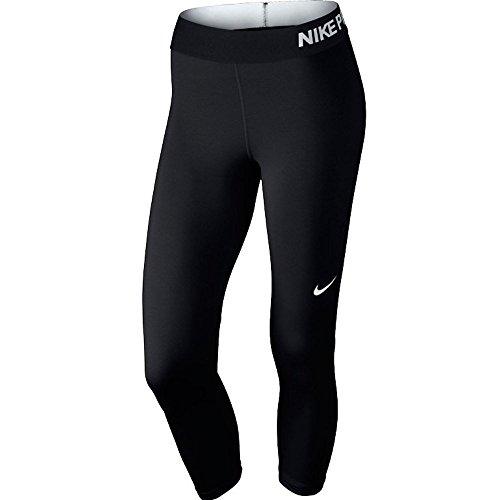 Nike Damen Trainingscaprihose PRO COOL CAPRI, Schwarz (Black/Black/White), M (Coole Nike Leggings Für Frauen)