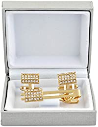 Cufflinks Set For Men Top Quality Designer Designer Gold Cuff Link And Tie Pin Set With Diamond
