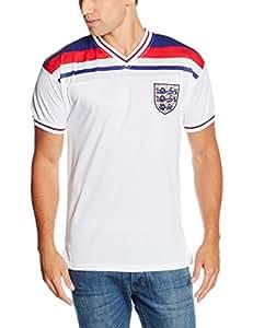 0d2c2bffe75 Score Draw Men's England 1982 World Cup Final Shirt: Amazon.co.uk ...