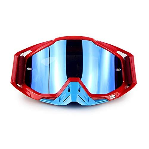 H-MetHlonsy Motorrad Rennbrille Motocross Offroad Brille ATV Moto Bike Dirt Bike Goggle red