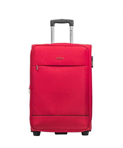 Koffer Reisekoffer Hartschalen Trolly Puccini® Verona • 4 Größen 4 Farben (Rot (3), Mittelgroß)