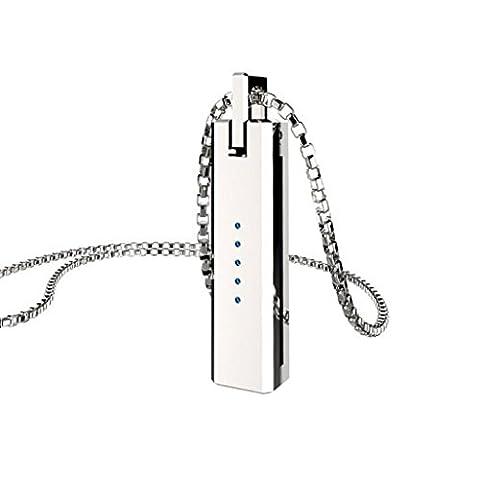 FEITONG Metall Halskette Anhänger Magnetisch Halterkette Für Fitbit Flex 2