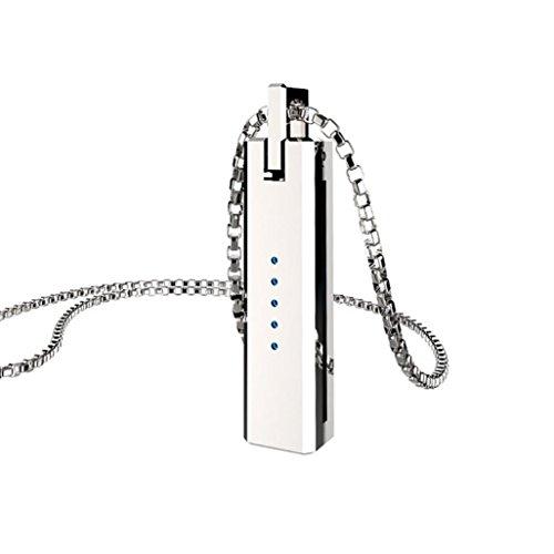 FEITONG Metall Halskette Anhänger Magnetisch Halterkette Für Fitbit Flex 2 - Anhänger Magnetische
