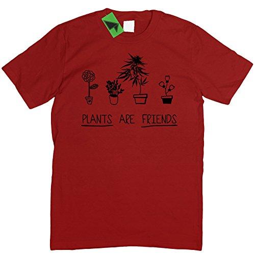 Prism Clothing Co. Herren T-Shirt Weiß Weiß Rot - Ziegelrot