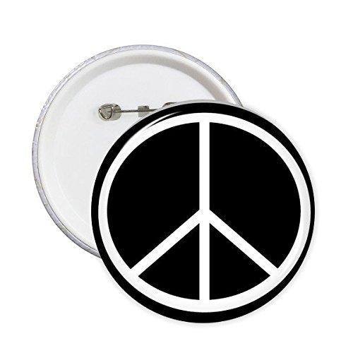 Schwarz-weißes Peace-Symbol Nukleare Abrüstung Anti-Krieg, einfaches Design, Illustrationsmuster, runde Anstecknadeln, Button, Kleidung, Dekoration, Geschenk, 5 Stück m