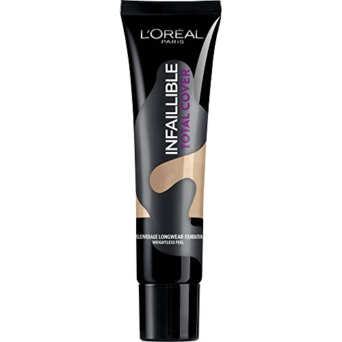 L'Oréal Paris Base de Maquillaje Infalible Total Cover 22 Beige Éclat
