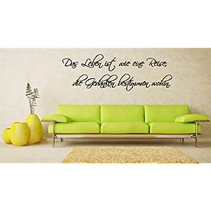 Wandaufkleber-Wandtattoo-Wandsticker - Spruch ***Das Leben ist wie eine Reise.*** (Größen.- und Farbauswahl)