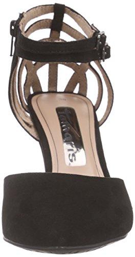 Tamaris - 24422, Scarpe col tacco con cinturino a T Donna Nero (Nero (Black 001))