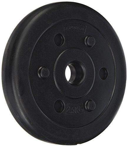 ScSPORTS® 5 kg Hantelscheiben-Set Kunststoff 2 x 2,5 kg Gewichte 30/31 mm Bohrung - leise und bodenschonend für Zuhause