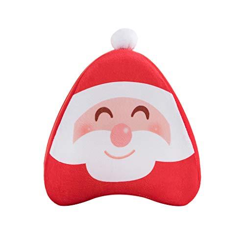 Yowablo Kissenbezug Kissenhülle Wurfkissenbezug Weihnachtsgeschenk Clip Bein Drucken Muster für Büro,Zuhause,Auto,Café,Laden,Bibliothek usw (25x23x15cm,A)