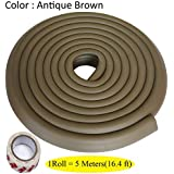 LifeKrafts 5 Meters Thick Rubber Edge Cushion |Colour - Antique Brown| Table Edges Guard for Baby , toddler , Child Safety | Edge Protector | Table Corner Cushions | Baby Proofing | Child Safety Furniture Bumper