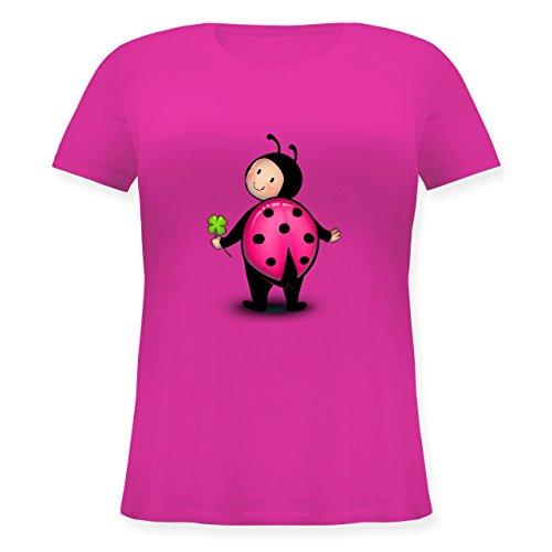 Karneval & Fasching - Marienkäfer - XL (50/52) - Fuchsia - JHK601 - Lockeres Damen-Shirt in großen Größen mit (Size Kostüme Marienkäfer Plus)