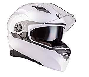 ARROW AF-77 shiny white - blanc modular moto casque dual sport urban scooter intégral moto-casque ECE certified - XS S M L XL XXL