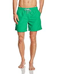 Miami Beach Swimwear Herren Badeshorts in Unifarben