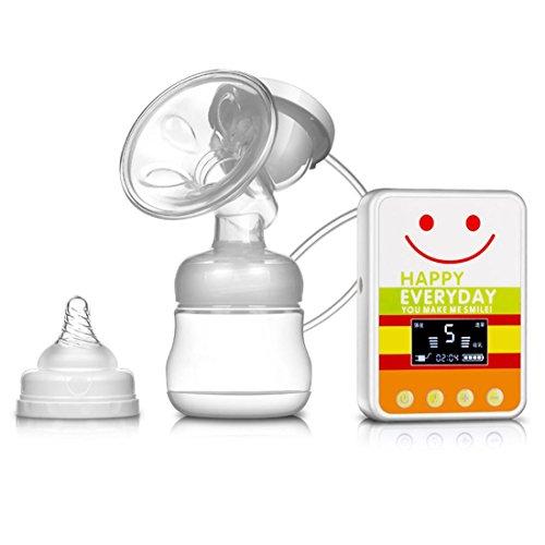 Leydee Pompe Tiralatte elettrico ricaricabile USB bambino BPA libero successivo al parto allattamento al seno latte polloni singolo 150ML , b