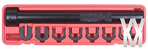 wondermantools® Innen Spurstangenkopf Installer Entferner Werkzeug Set Einstellknopf 1/5,1cm Universal Garage (1,25 Rod Set)