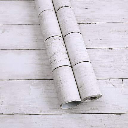 Holzmöbel Aufkleber selbstklebende Tapete wasserdichte PVC Holz Schlafzimmer Wohnzimmer TV Kulisse frisch Shiraki renoviert (0,45 * 10 m) 0.53 * 9.5m (Wie Ein Hoch Fußballtor Ist)
