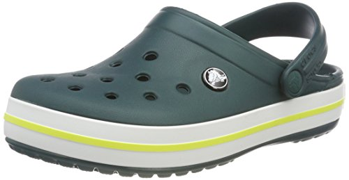 Crocs Crocband, Zoccoli Unisex - Adulto, Verde (Evergreen/Tennis Ball Green), 41/42 EU