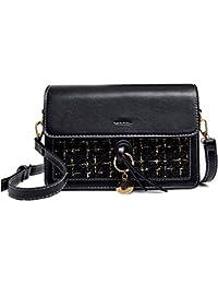 27ace1d64a952 HCXIN 2018 Frau Viereckiger Umhängetasche Mode Elegant Schultertasche Lässig  Einfarbig Messenger Bag Coole Kette…