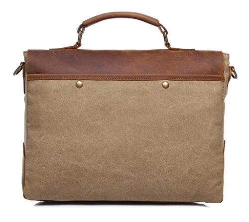 Great Strange Vintage Canvas Tasche / Mann Schultertasche / Umhängetasche, Handtasche, Aktentasche, Einkaufen / Arbeit / Reisen , coral blue khaki